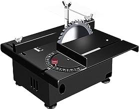 Sierra de Mesa portátil de sobremesa, Mini Sierra de Mesa, Mesa eléctrica, 12-24V, máquina de Corte Ajustable de Velocidad de Siete Niveles con guía de ángulo para Manualidades de Madera de Madera de