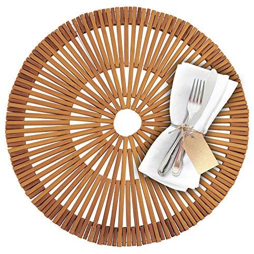 Westmark Bambus-Tischset/Platzdeckchen, handgefertigt, rund, ø 38 cm, Bambus, Saleen-Edition: Rondo, Hellbraun, 701422E1