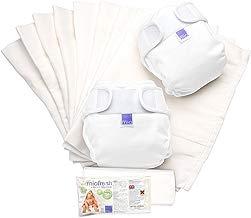 Bambino Mio, miosoft set de pañales de tela, blanco, talla 2 (9 kg+)