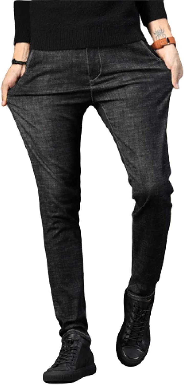 Huntrly Men's Jeans Spring Jeans Trend Slim-fit Denim Trousers Fashion Regular-Version