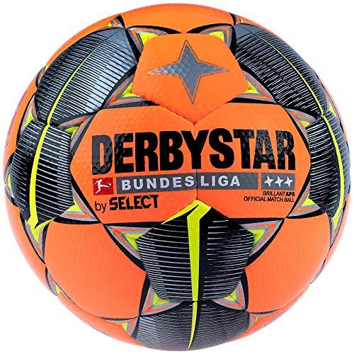 Derbystar Erwachsene Bundesliga Brillant APS Winter Fußball, orange schwarz gelb, 5
