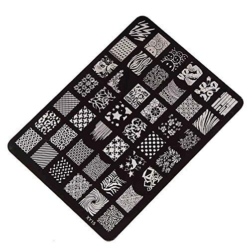 Outflower Ongles Emboutissage Impression Plaque Manucure Nail Art Image Decor Plaque Stamping Impression des Ongles Modèle