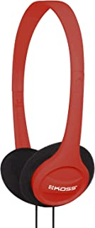 Koss KPH7R Portable On-Ear Headphone with Adjustable Headband - Red