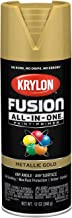 Krylon K02770007 Fusion All-in-One Spray Paint, Gold