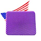 Gel Seat Cushion for Office Chair ,Gaming Chair Double Thick Royal Ultimate Seat Cushion for Long Sitting, Simply Chair Cushion Egg Cushion for Car, Wheelchair, Chair Pad