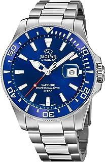 JAGUAR - Reloj Modelo J886/1 de la colección AUTOMATICO, Caja de 43,5 mm Azul con Correa de Acero para Caballero