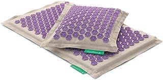 Therapeutic Manual Massage Set PRANAMAT ECO (Pranamat Massage mat + PranaPillow Massage Pillow) (Natural Lavender)