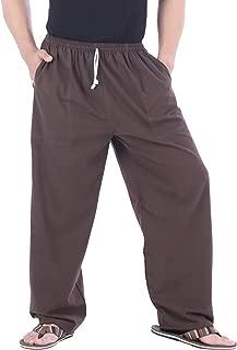 CandyHusky Mens Elastic Waist Casual Lounge Pajama Jogger Yoga Pants Cotton