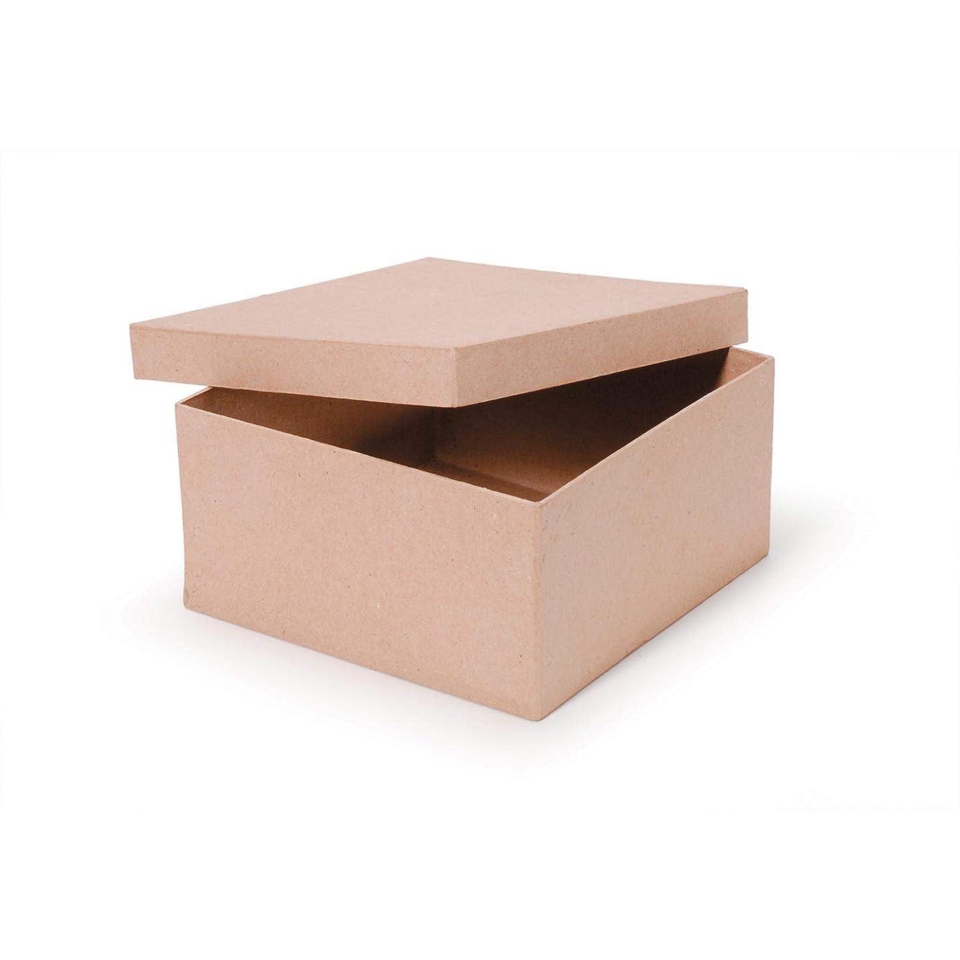Bulk Buy: Darice DIY Crafts Paper Mache Box Square 8 x 8 x 4 inches (2-Pack) 2805-41FCAS