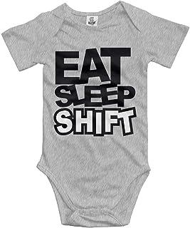 Unisex Baby's Eat Sleep Shift Bodysuits Romper Light Onesies