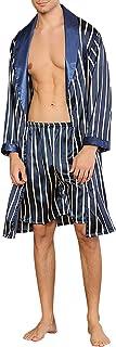 YAOMEI Accappatoio Vestaglie e kimonoper Uomo, 2-in-1 Pantaloni Vestaglia da Notte Kimono Raso Pigiama Sleepwear, Lusso Ro...