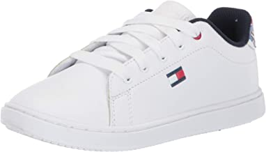 Tommy Hilfiger Kids' Iconic Court Sneaker White Multi 2 Child US Little