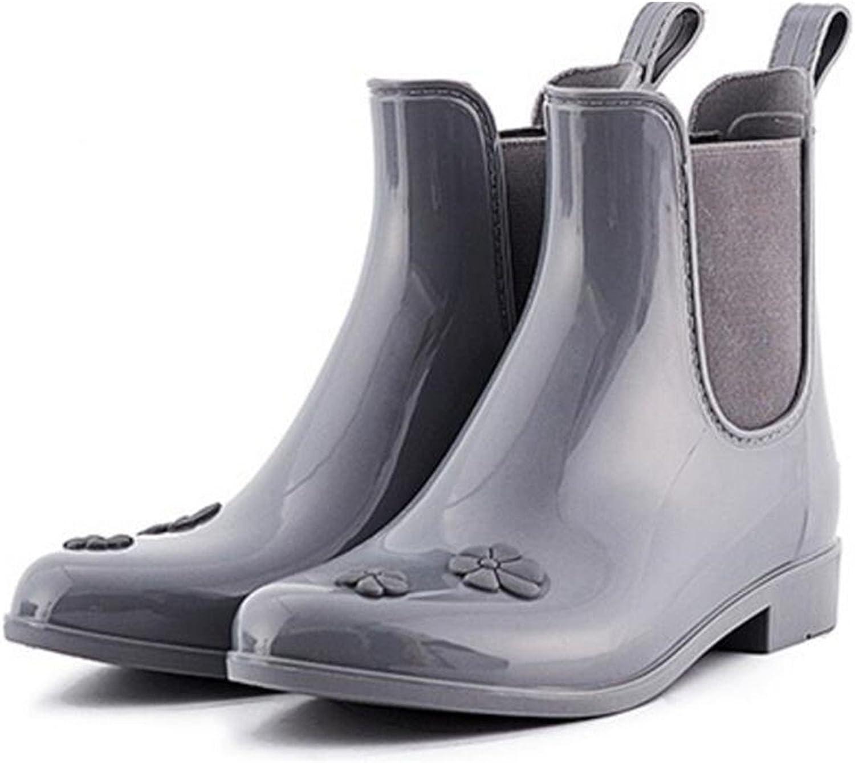 XIUWU Women's Garden Waterpoof Ankle Boots Rain Booties