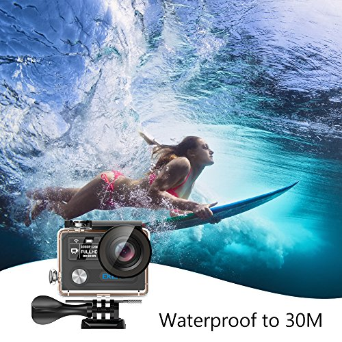 EKEN H8 Pro, Ultra HD 4K Waterproof Action Camera (Sports DV Camcorder with 2 Batteries, Charging Dock, Selfie Stick and 18 Mountings Kit), one of The Most Cost-Effective Sports Cameras (Black)
