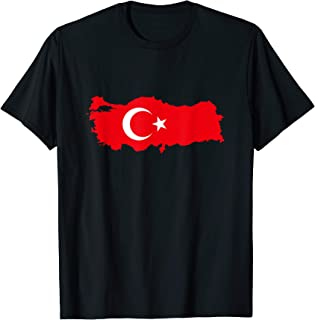 TURKEY - Country Outline & Flag T-Shirt
