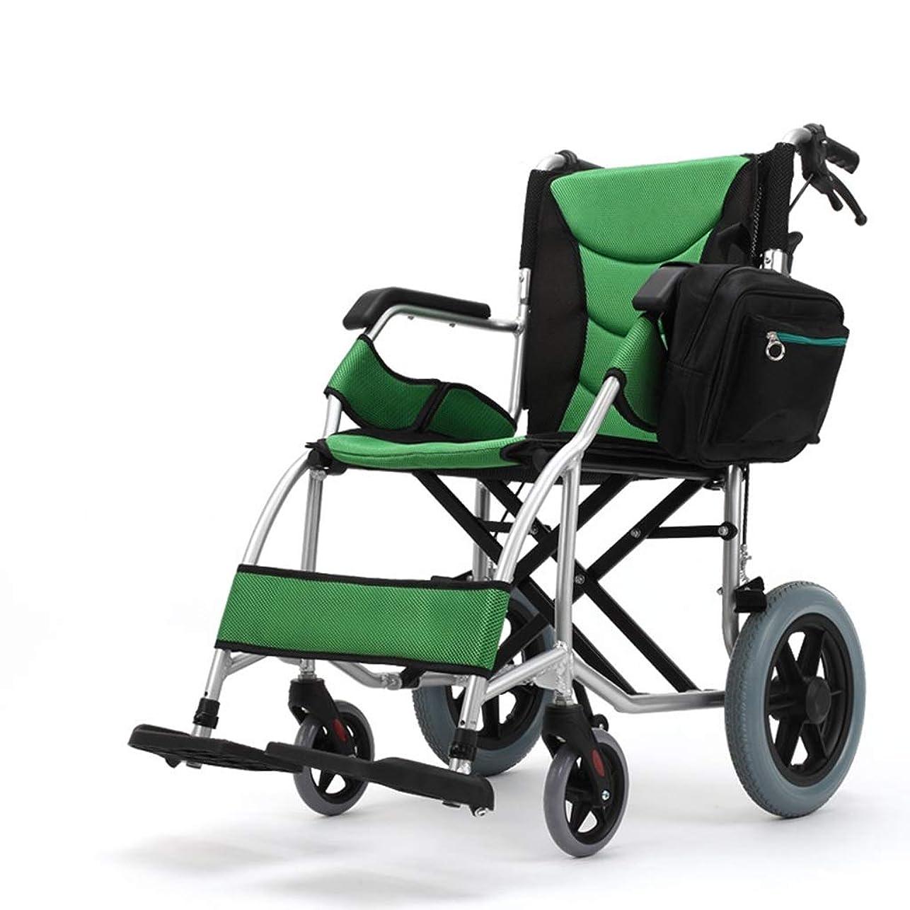 可能エスカレートちょうつがい車椅子折りたたみポータブル、アルミ合金高齢者超軽量ポータブル旅行ハンドプッシュスクーター
