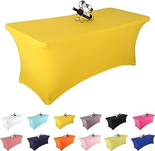 Yetomey Spandex Table Cover Rectangular Stretch Tablecloth,for DJ,Tradeshows,Vendors,Weddings