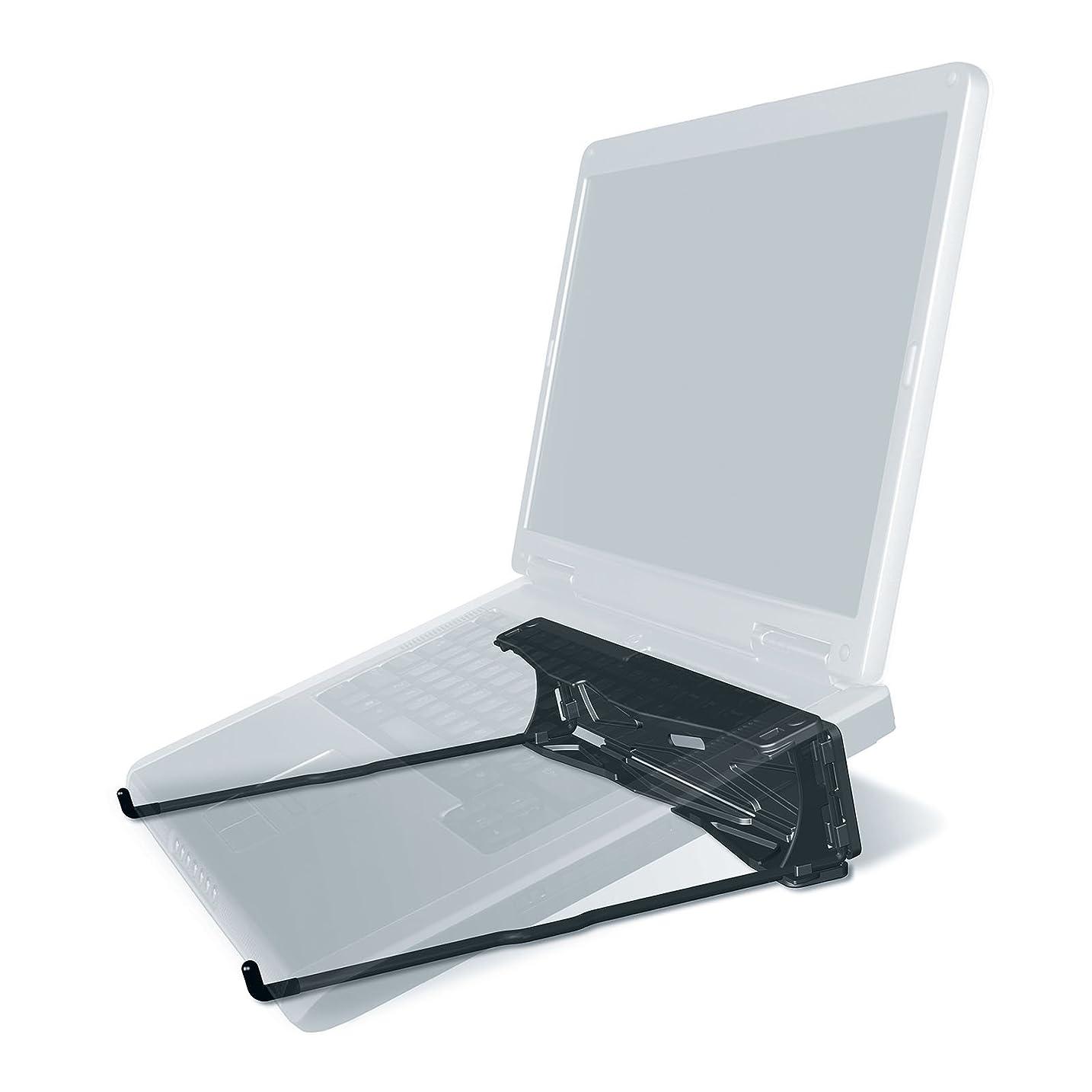 葉巻トリプル鎖GPG2 ノートパソコン用 折りたたみ 軽量 スタンド ノートPC 持ち運び デスク MacBook対応 熱対策 (ブラック)