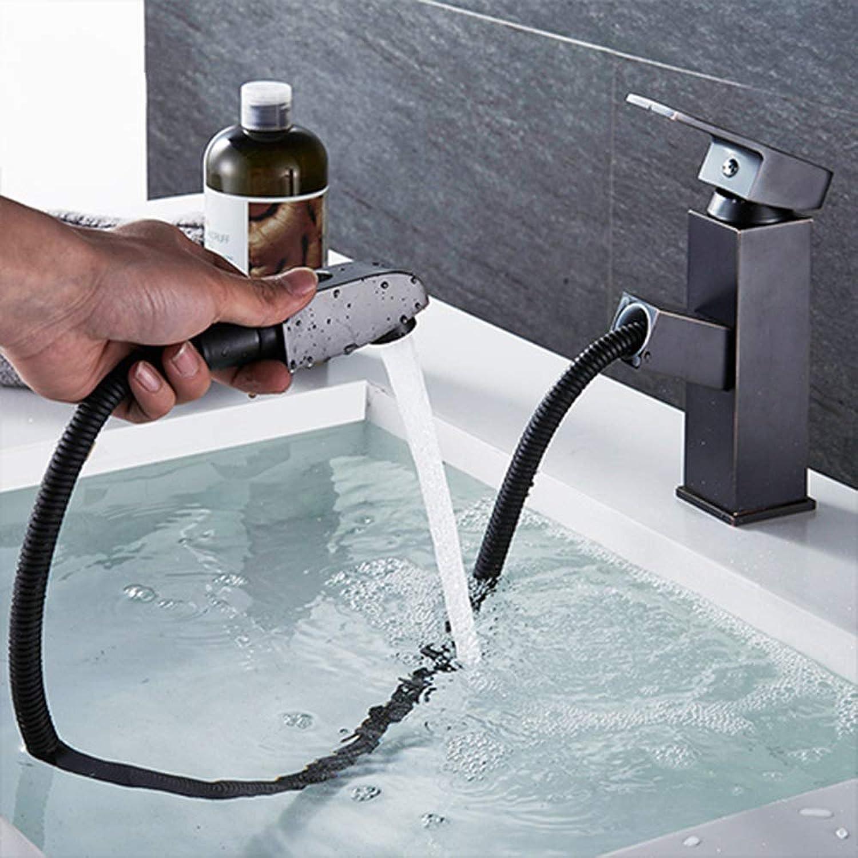 JTSLT Wasserhahn Becken Wasserhhne Herausziehen Gold Waschbecken Kran Kupfer Waschbecken Wc Mischbatterien Heien Und Kalten Deck Montiert Bad Wasserhahn