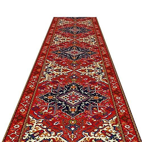 alfombra de Pasillo Añada Tradicional Alfombras de Corredor, Extra Largo Respaldo Antideslizante, Clásico Estilo Oriental Alfombra del Piso (Size : 100×250cm(3.3ft×8ft))
