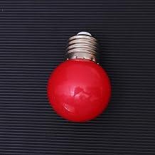 Mobestech rode mini-waterdichte gekleurde gloeilamp 3W feestelijke schroeflamp voor feestdagen, huwelijksfeesten kerstmis ...