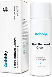 Aobbiy Women's Hair Removal Cream - Gentle yet Fast-Working, Fragrance-Free, Non-Irritating for All Skin Types, 100ML