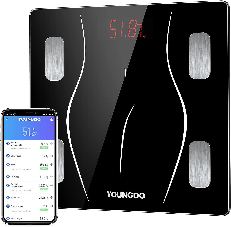 Body Fat Scales Max 84% OFF Smart BMI Digital Rare Bathroom Scale YOUNGDO