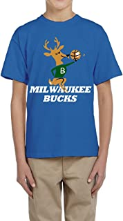 PTCY Design Child Tee Shirt Cartoon Milwaukee Bucks Team Mascot RoyalBlue Size XL