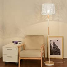 KANJJ-YU Floor Lamp, Floor Lamp, Wishes Shop floor lamp- Wooden Floor lamp Nordic Living Room Sofa Standard Lamp Modern Si...