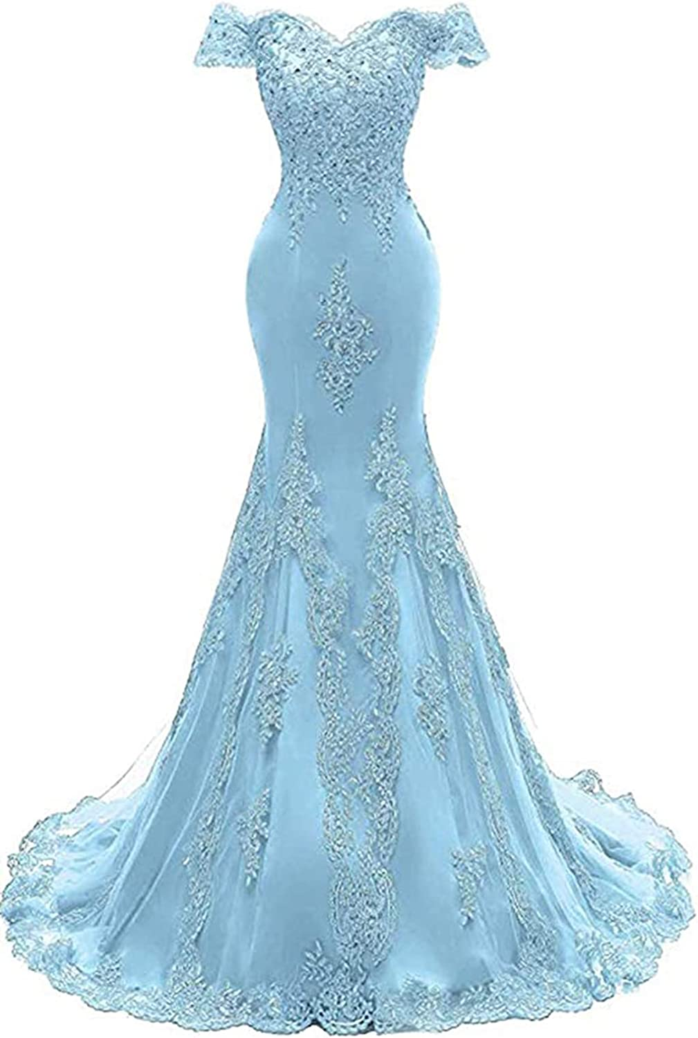 New product type Awishwill Super intense SALE Women's Off Shoulder Prom Mermaid Appliqu Dresses Lace