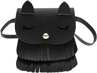 Crossbody Bag With Tassel Cute Cat Shoulder Bag Mini Coin Purse
