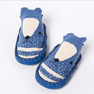 healthwen Cute Cartoon Baby Soft Cotton Socks Calcetines Antideslizantes para el Piso para niños pequeños