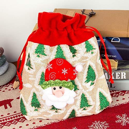 58SD Festliche Designs Tasche Weihnachten Goody Bags Geschenkverpackungen Tote Bag Geschenktüte Geschenktüte Geschenkverpackungen schneemann