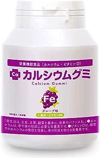 成長サプリ カルシウムグミFe グレープ味 1箱30日分 伸び盛り 身長 健康 たんぱく質 鉄分 ビタミンD アルギニン 乳酸菌 栄養機能食品