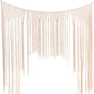 Large Macrame Wall Hanging,Macrame Woven Wall Hanging,Macramé Handwoven Boho Chic,Bohemian Wedding Backdrop for Home Art Decor,Living Room Bedroom Decorations,Ceremony or Photography. 6FT X 7FT