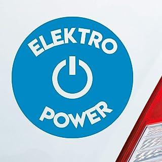 Auto Aufkleber in deiner Wunschfarbe Elektro Power Elektrizität Energie Öko Stro