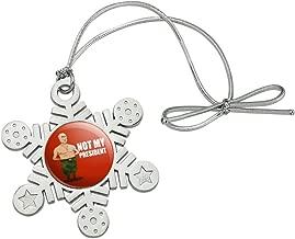 GRAPHICS & MORE Putin Not My President Metal Snowflake Christmas Tree Holiday Ornament