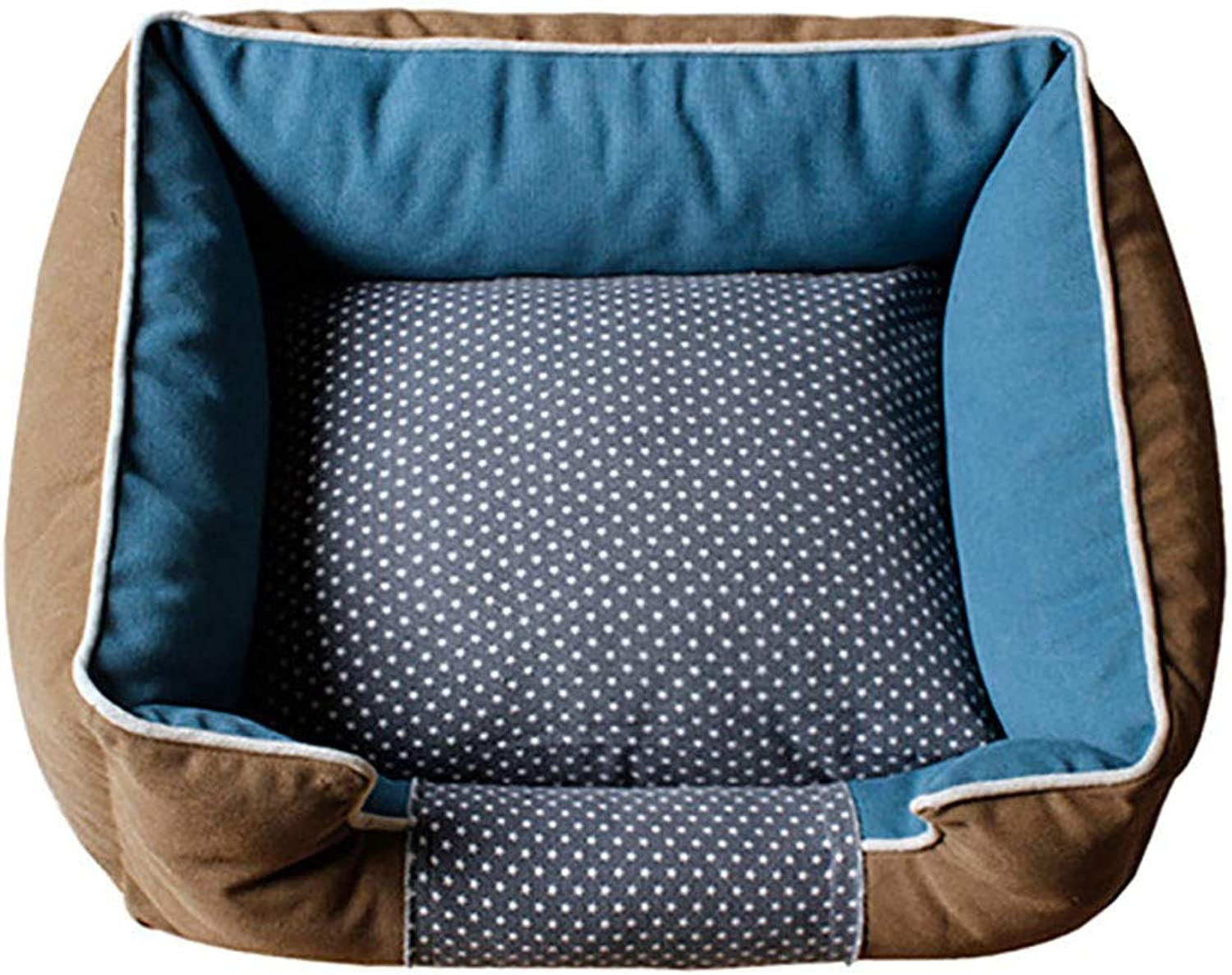 Pet house kennel Washable Large dog Medium dog Small dog pet bed Pet mat Pet nest Warm and comfortable Four seasons available (Size   50  40  17)