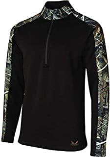 Terramar Men's Predator Heavyweight Outdoors Sports Quarter Zip Jacket