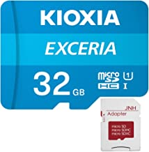 microSDHC 32GB EXCERIA 超高速UHS-I KIOXIA(旧東芝メモリー) + JNHオリジナルSDアダプター + 保管用クリアケース [並行輸入品]