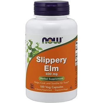 NOW Supplements, Slippery Elm (Ulmus rubra) 400 mg, Herbal Supplement, 100 Veg Capsules
