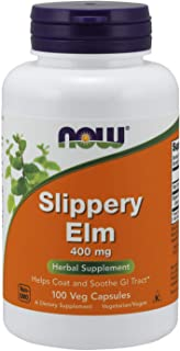 Now Foods Slippery Elm, 400mg, Capsules, 100ct