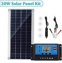 Blue-Yan Kit de Panel Solar Flexible policristalino de 20 W con Controlador de Carga inversor, teléfono móvil Multifuncional portátil Que Carga el Tablero Solar