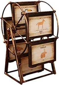Nubstous Photo Frame Bronze Ferris Wheel Windmill Photo Albums Interstitial Assembly Album