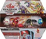 Bakugan Baku-Gear - Pack de 4 Figuras de acción coleccionables de Sabra x Pyravian Ultra con Baku-Gear y Howlkor x Serpenteze
