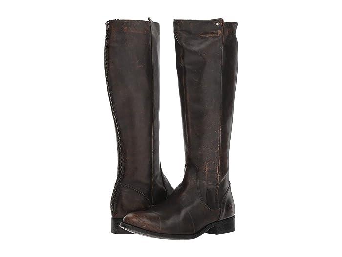 FRYE Womens Melissa Stud Back Zip Riding Boot