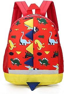 Mochila Infantil de Dinosaurios Mochila para Niños Infantil Guarderia Mochila Escolar (Rojo)