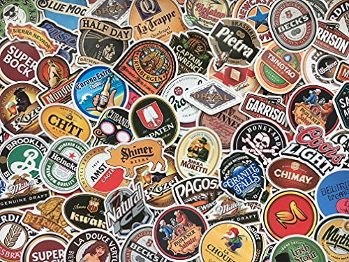 50 Aufkleber für Bier, Logos, Marken, Bier, Brauerei, Bar, Brauerei, Pub, Kühlschrank