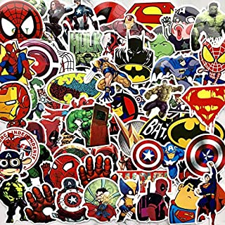 NGA carStickers: 100 Pcs/Lot Stickers for Marvel Super Hero DC for Car Laptop Notebook Decal Fridge Skateboard Batman Superman Hulk Iron Man