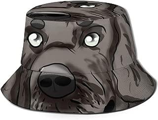 Unisex Bucket Hat Newfoundland New Foundland Dog Print Summer Fisherman Cap Black